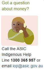 ASIC Indigenous Help Line