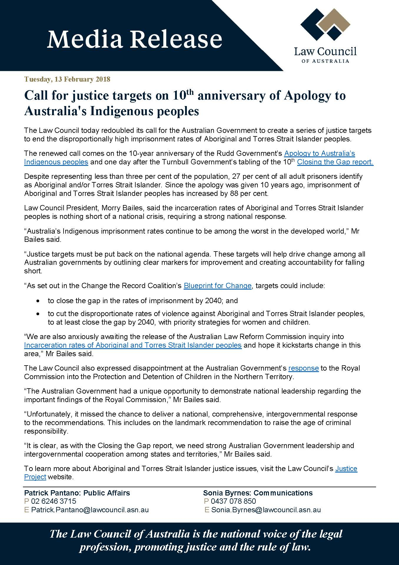 Call for justice targets on 10th anniversary of apology to justicetargets malvernweather Image collections